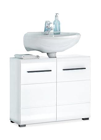 Waschbeckenunterschrank Waschtischunterschrank FLEMMING 1 | Schwarz ...