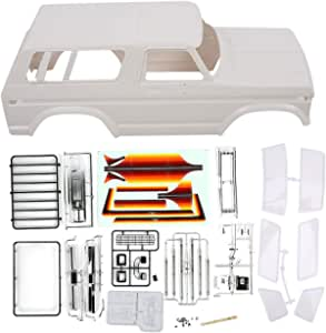 RC Car Shell, blanco 1:10 Escala de plástico duro Control ...