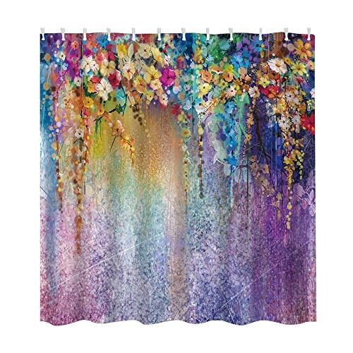 Orcbee  _Waterproof Various Pattern & 12 Hooks Bathroom Shower Curtain Multichoice Lot