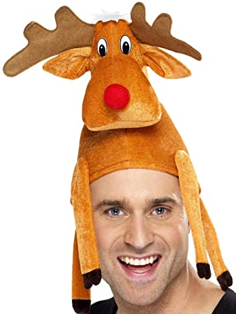 Christmas Fancy Dress Funny.Amazon Com Mens Ladies Rudolph Reindeer Comedy Funny