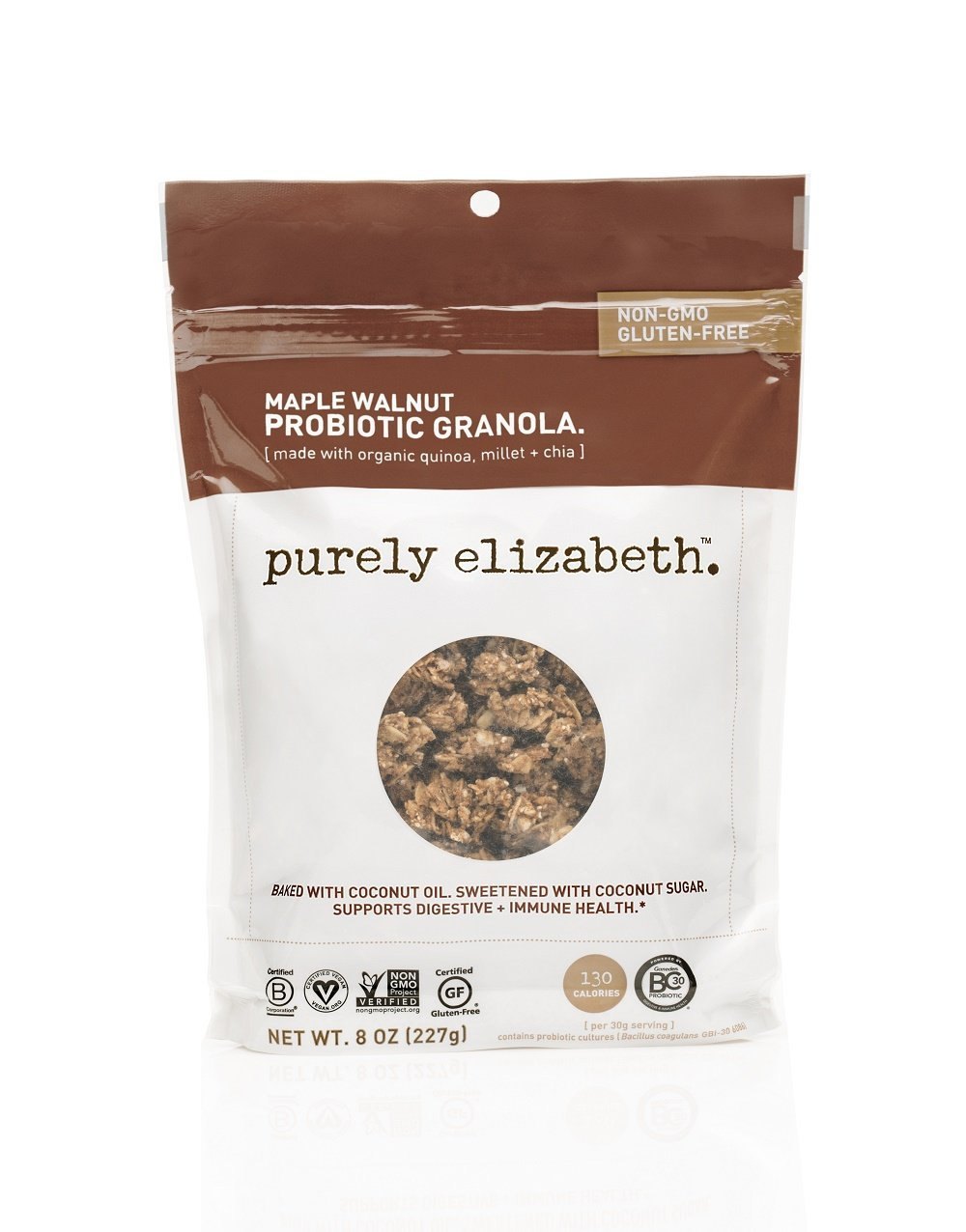 purely elizabeth Probiotic Gluten-Free Granola, Maple Walnut, 8 oz