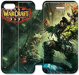 Flip Folio Leather Case for iPhone 5 5s Cell Phone Case World Of Warcraft Iii Reign Of Choas HPM4614939