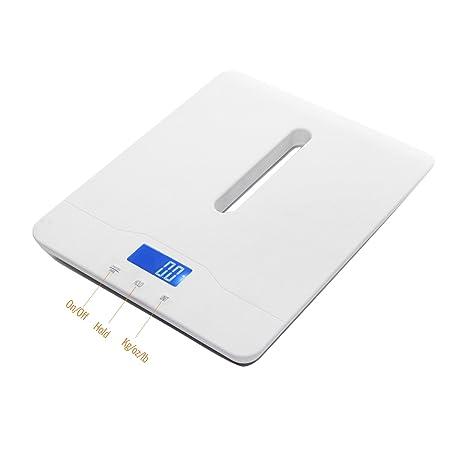 OneTwoThree Báscula digital para mascotas para medir el peso del perro y gato con precisión, capacidad de 23,6 kg con precisión ± 10 g, ...