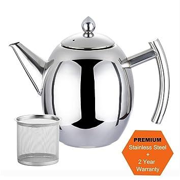 AckMond 1500 ml Kaffee Teekanne - Polierter Edelstahl Teekanne ...