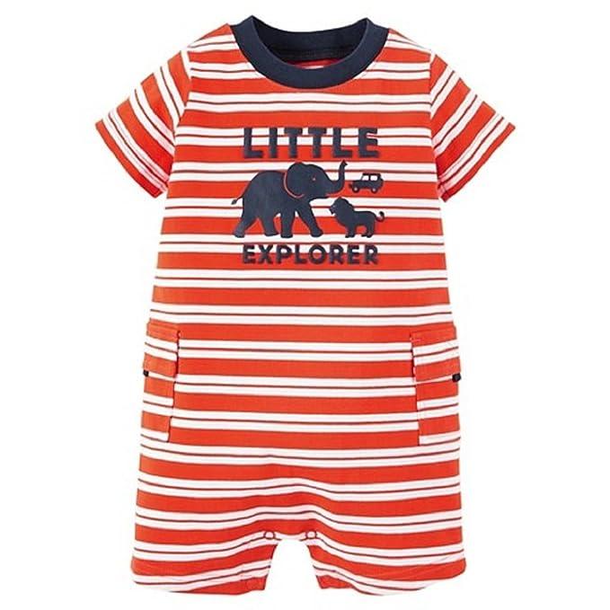 a8265325fda3 Amazon.com  Carter s Just One You Baby Boys Romper Orange White ...