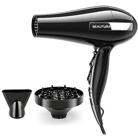 beautural profesional secador de pelo styler con iónico, 3 niveles de calor & 2 ajustes