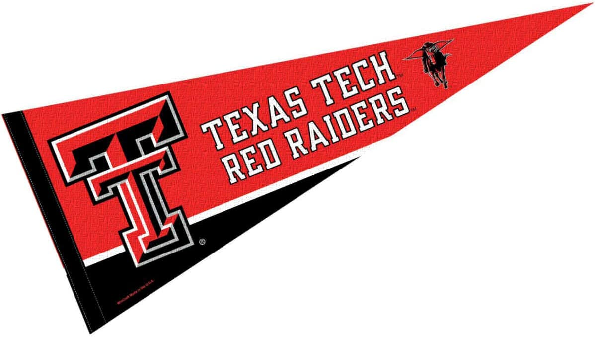 College Flags & Banners Co. Texas Tech Red Raiders Pennant Full Size Felt