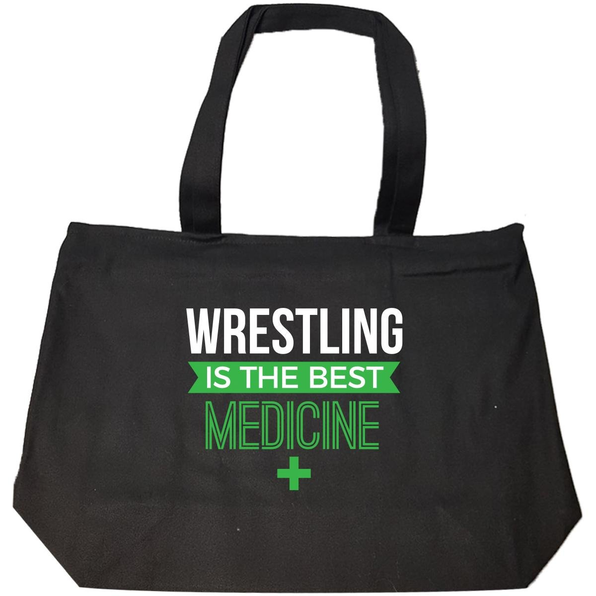 Wrestling Is The Best Medicine Favorite Sport Gift - Tote Bag With Zip by We Add Up