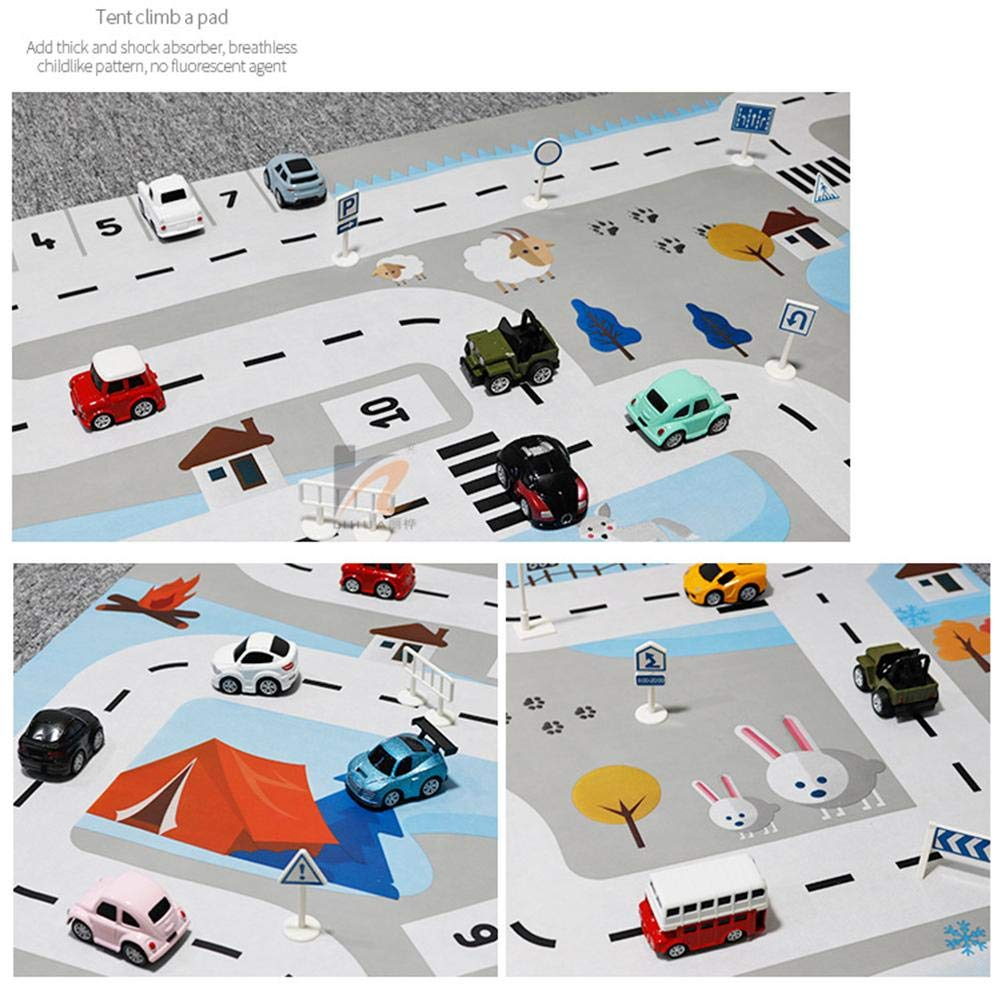 Sundlight Kids Carpet Playmat Rug City Life Great for Playing with Cars and Toys Play Mat Car Carpet with Road fit Home//Kindergarten
