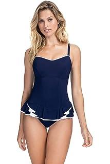 Profile by Gottex Womens Center Detail Bandeau Swimdress One Piece Swimsuit