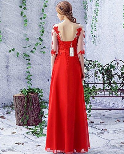 Mujer Vestido Vimans Para Trapecio Rosso Rojo 46 tvdq6dwB