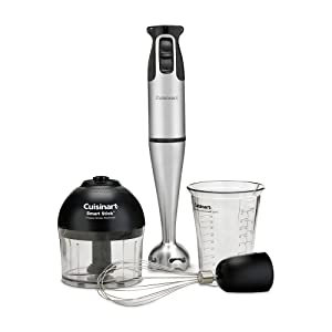 Brushed Stainless Steel 200-Watt Smart Sticko?= Hand Blender