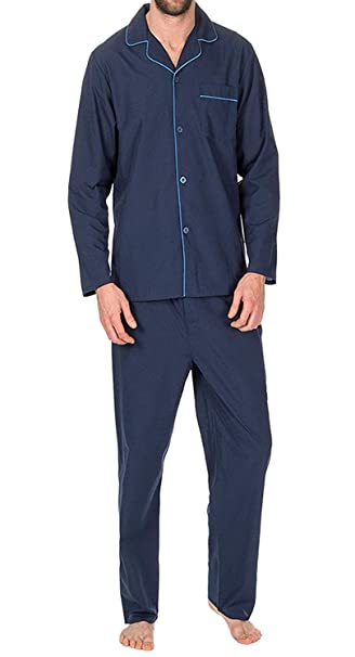 diversified in packaging hot product top-rated fashion Mens Insignia Plain Poly Cotton Pyjamas Set Traditional Classic Cut