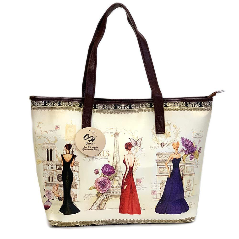 OH Fashion Women Handbag Tote Glorious Paris Handbag Shoulder Satchel Crossbody