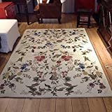 KEPSWET Fashion Vintage Floral Ornament Carpets Rural Style Rugs Bedroom Living Room Rugs Baby Crawling Carpets Coffee Table Bedside Carpets Door Rugs (2'6×3'9, A) Review