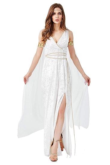 Mujer Halloween Vestido de Diosa Griega Disfraz de Atenea ...