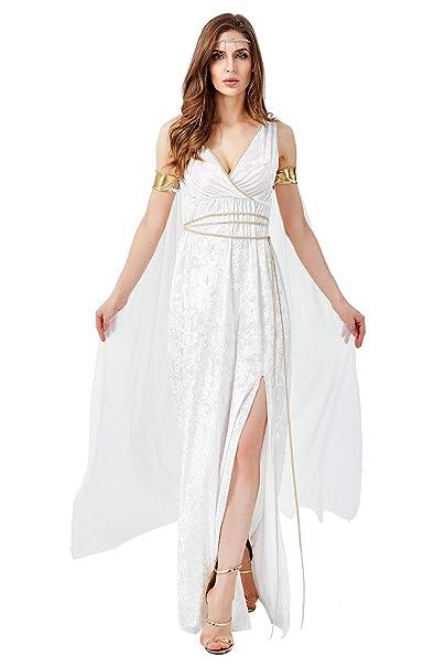 Disfraz De Mujer Griego Elegante con Cuello En V Sin Mangas ...