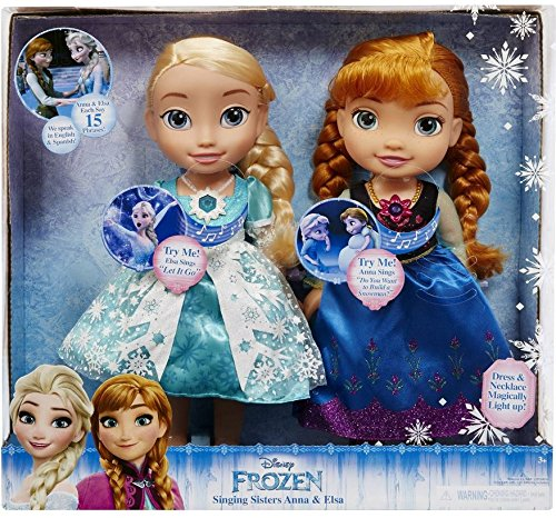 Disney Frozen Singing Sisters Anna and Elsa Talking Dolls