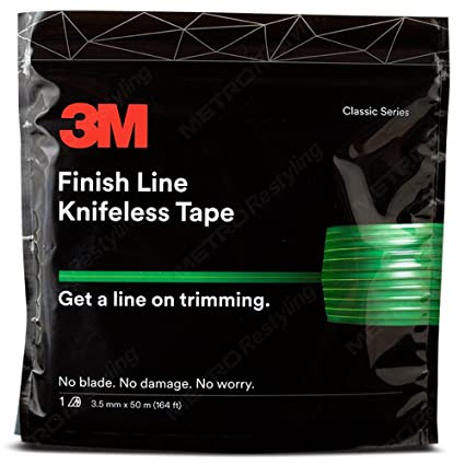 0b66b96f043e2 3M Knifeless Finish Line Vinyl Wrap Cutting Tape 50 Meter Roll (164 Ft) for  Stripes and More