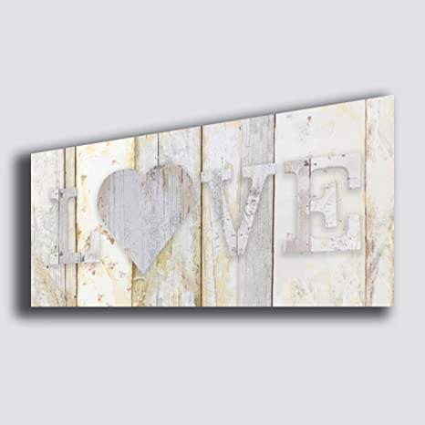 quadri moderni camera da letto  Quadro moderno Shabby Chic camera da letto LOVE amore - Quadri ...