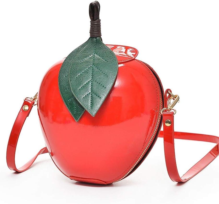 HKDUC Women Fashion Apple Handbag Pu Leather Design Woman Designer Bags Luxury Crossbody Bags for Women