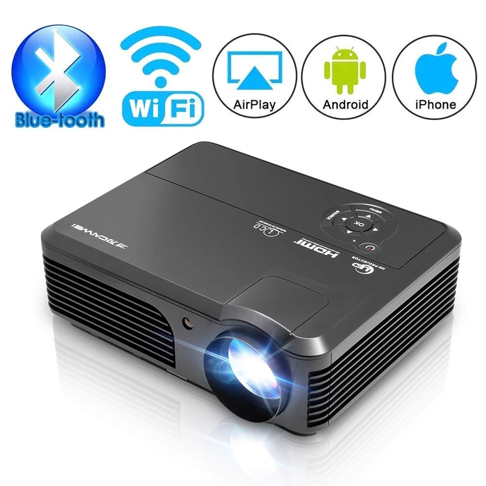 Bluetooth Wireless Projector WiFi Android 4400 Lumen Support HD 1080p Movie LCD LED Video Projector Zoom Smart TV Home Theater Multimedia Proyector ...