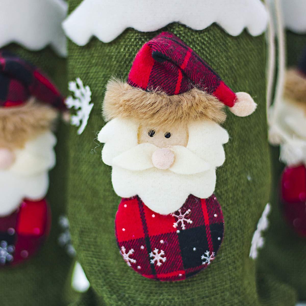 PeiXuan2019 Cubiertas de Botellas de Vino Tinto de Navidad Vajilla Decoración de Mesa Adornos Decoración Navidad Papá Noel (Color : Green): Amazon.es: ...