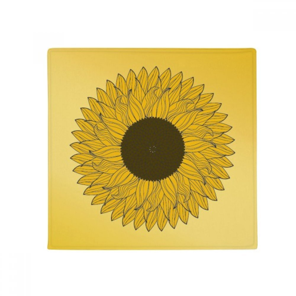 DIYthinker Flower Yellow Sunflower Plant Anti-Slip Floor Pet Mat Square Home Kitchen Door 80Cm Gift