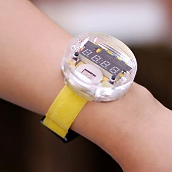 kkmoon SCM transparente LED de reloj DIY LED Digital Tube Reloj de pulsera electrónica reloj DIY Kit: Amazon.es: Bricolaje y herramientas