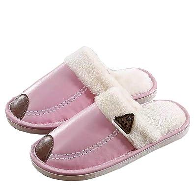 ZKHOECR Womens Slippers Rubber Sole Ladies Christmas House Anti-Skidding  Close Toe Slipper Juniors Cute 9b7e2e2036