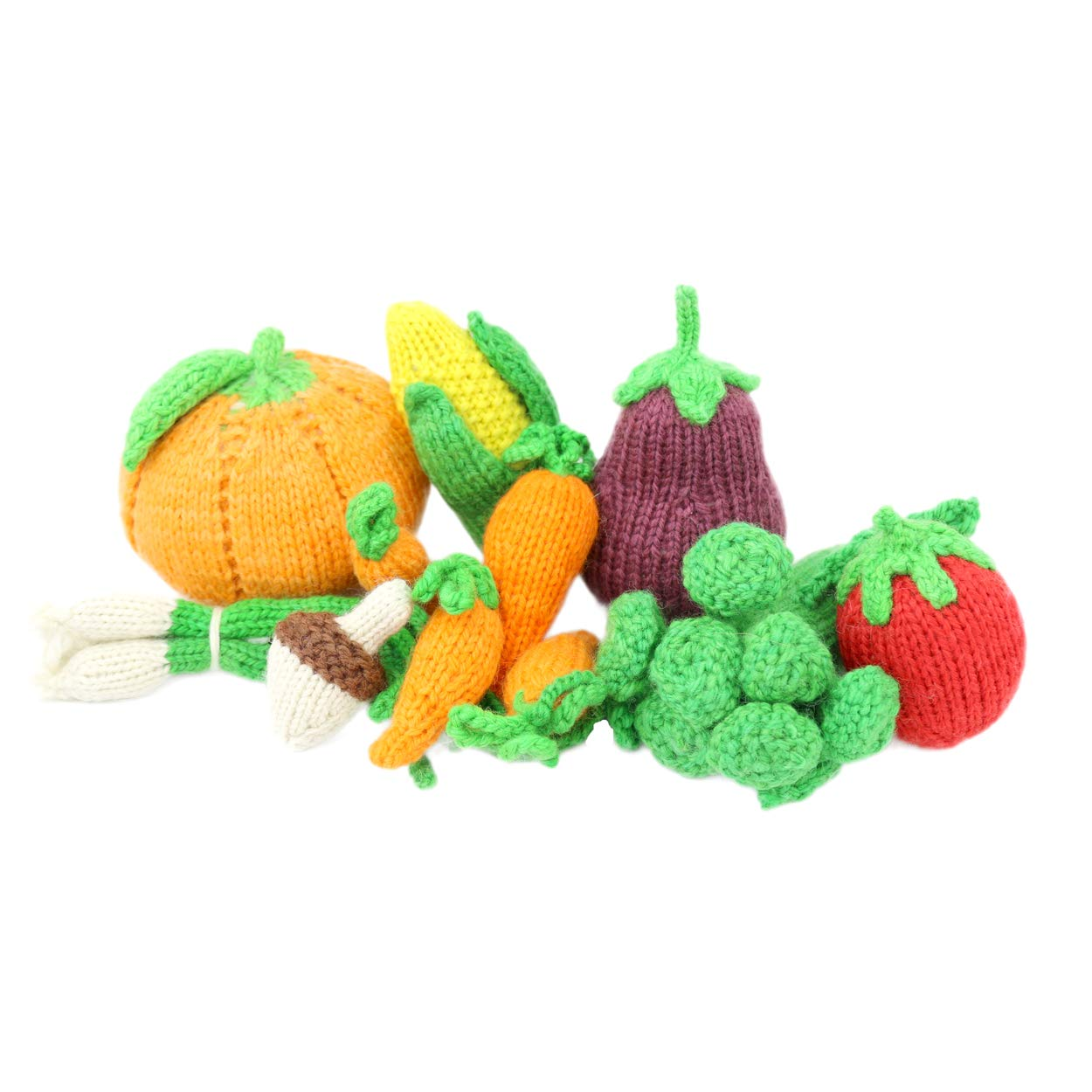 Camden Rose Knitted Play Food Set - Vegetable Variety, 11 Pieces