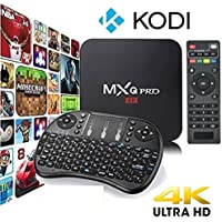 [2017 Version] KD 17.3 MXQ Pro HDTV BOX UHD 4K Android 6.0/64Bit/Amlogic S905X Quad Core  Mini Wireless Keyboard