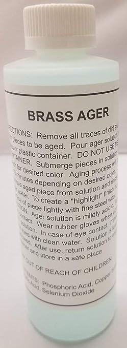 Brass Ager Darkening Solution antique vintage old metal patina copper tin bronze dull