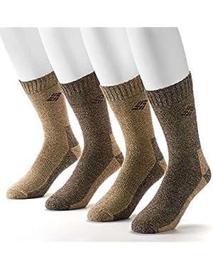 Men's 4 Pack Mid-Calf Crew Socks