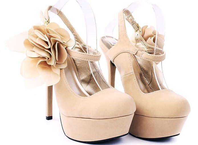 95e7e27ddcf87 Miriam Flower Mary Jane Stiletto Heel Platform Evening Dress Pumps