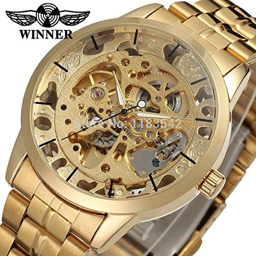 Winner Reloj para hombre Fashion Business automático analógico Vestido reloj de pulsera color dorado wrg8003 m4g1: Amazon.es: Relojes