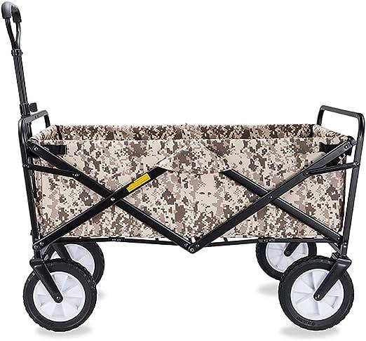 Carretillas de Mano Carro Plegable con Frenos para Jardín, Carrito Transportador Apto para Todo Tipo de Fondos, Carga 80kg,H:Brown: Amazon.es: Hogar