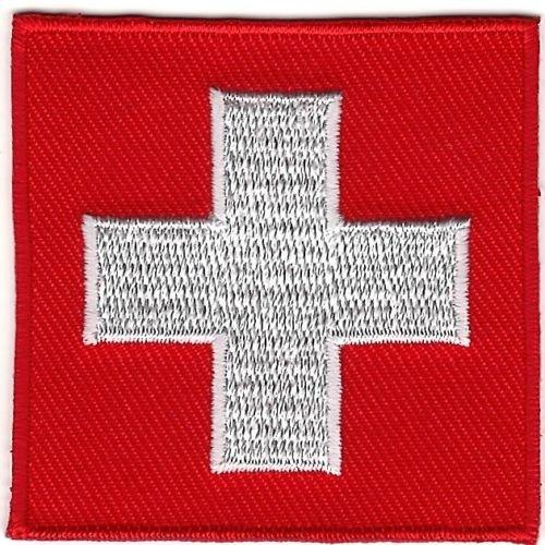 Embroidery Patch Swiss Flag Insignia Switzerland Ski Patrol 2