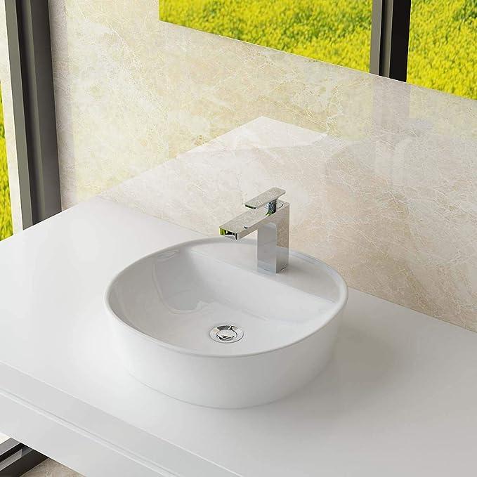 vidaXL Waschbecken mit Hahnloch Keramik Design Waschschale Aufsatzwaschbecken