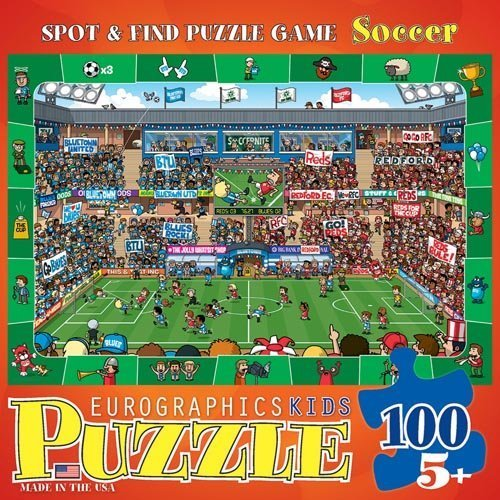 Spot and Find - Soccer 100-Piece Puzzle by Eurographics - Toys
