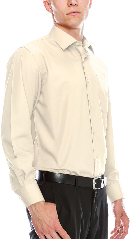 Big JC DISTRO Mens Regular Fit Fashion Dress Shirt w//Reversible Cuff
