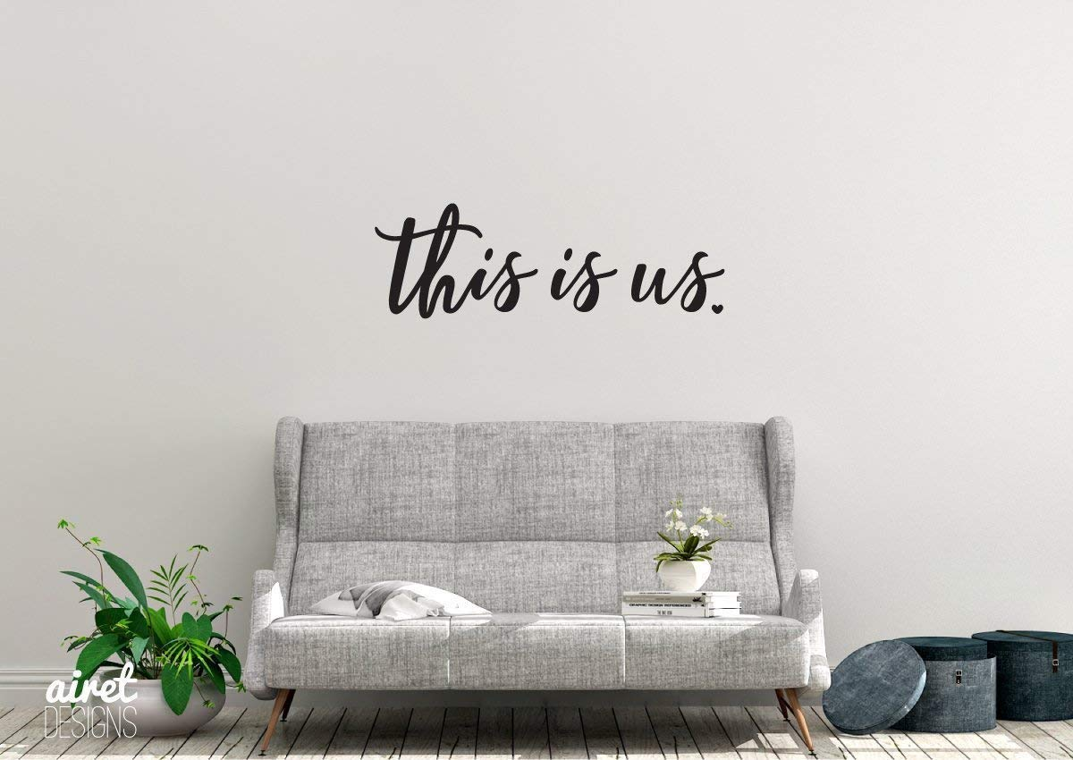 this is us Vinyl Decal Wall Art Decor Sticker Photo Gallery Story Wall Home Decor House Living Family Entry Hall Decoration v2