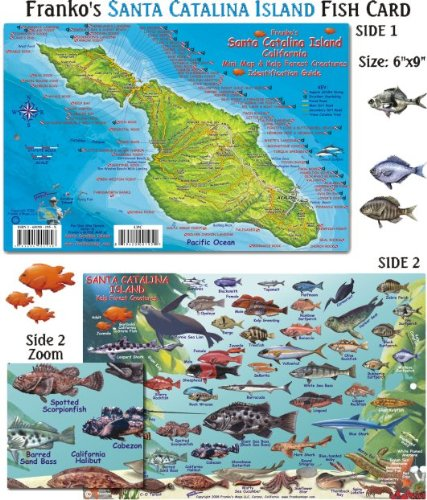 Franko Maps Santa Catalina Island Fish ID for Scuba Divers and Snorkelers