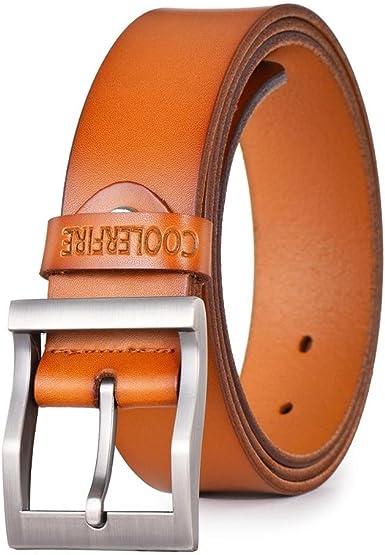 Amazon Com Cinturones De Piel Para Hombre Vaquero De Lujo Correa Cinturon De Marca Macho Vintage Fancy Pantalon Vaquero Para Hombre Bronceado Clothing