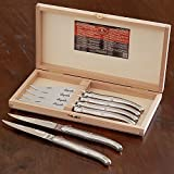 Laguiole Steak Knives Stainless Steel 2.5mm by Jean Dubost Set of 6 #17315