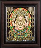 Chottanikkara Devi (Framed) - Tanjore Painting - Traditional Colors with 24 Karat Gold