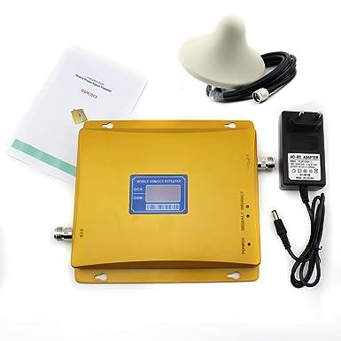 asunflower Juego completo Dual Band 900/1800MHz Amplificador de señal móvil GSM/3G DCS