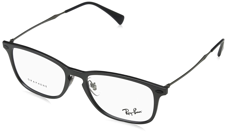 f5a2799981 Amazon.com  Ray-Ban Unisex RX8953 Eyeglasses Black Graphene 54mm  Clothing