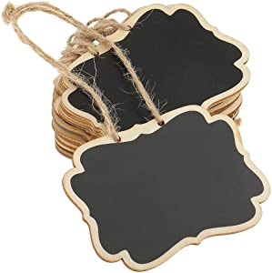 12pcs Mini Chalkboard Double-Sided Wooden Small Blackboard with Hanging String for Message Board Signs, Reminder, Memo, Labels, Tags