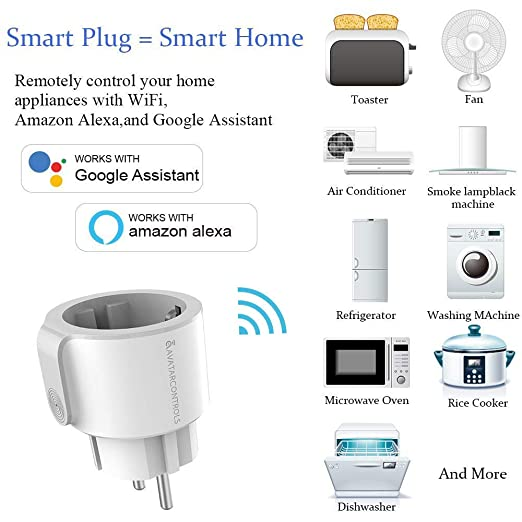 Enchufe inteligente inalámbrica Wifi Smart Plug - Compatible con ...